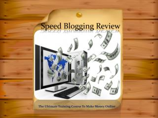 Chris Record Speed Blogging