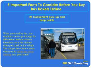 5 important Facts to Consider Before you Buy Bus Tickets Onl