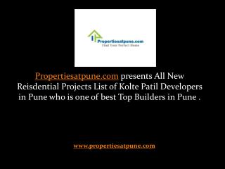 New Residential Projects in Pune by Kolte Patil Developers