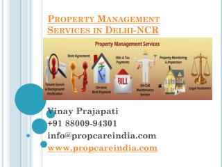 Property Management Services in Delhi-NCR