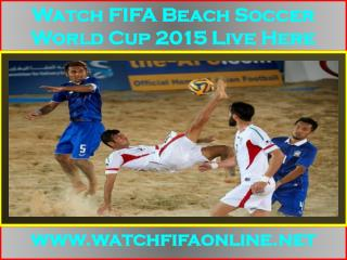 Live FIFA Beach Soccer World Cup