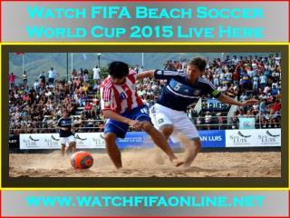 Live FIFA Beach Soccer World Cup Webstream