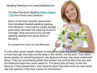 Wedding Readings from www.SeaBridal.com