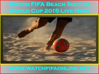 live FIFA Beach Soccer World Cup Online
