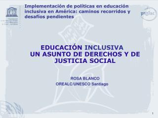 Implementaci n de pol ticas en educaci n inclusiva en Am rica: caminos recorridos y desaf os pendientes