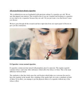 E - Cigarettes