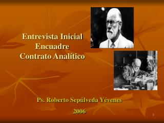 Entrevista Inicial Encuadre  Contrato Anal tico