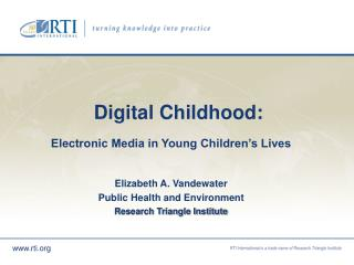 Digital Childhood: