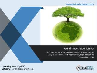 World Biopesticides Market Analysis, Trends, Demand, 2014-20