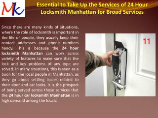24 Hour Locksmith Manhattan