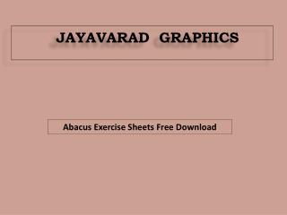 Abacus Exercise Sheets free download