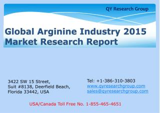 Global Arginine Industry 2015 Market Research Report