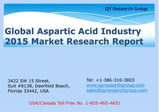 Global Aspartic Acid Industry 2015 Market Research Report