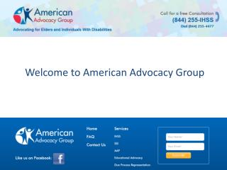 American Advocacy Group - In Home Supportive Services