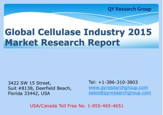 Global Cellulase Industry 2015 Market Research Report