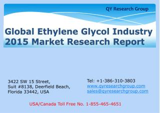Global Ethylene Glycol Industry 2015 Market Research Report