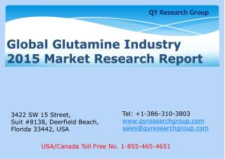 Global Glutamine Industry 2015 Market Research Report