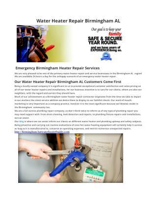 Water Heater Repair Birmingham AL