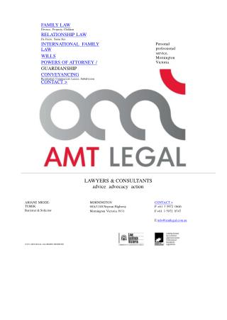 Family Lawyers Mornington - AMT Legal Lawyers & Consultant