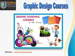Graphic Design Diploma and Degree from RMI Chennai