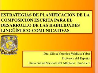 ESTRATEGIAS DE PLANIFICACI N DE LA COMPOSICI N ESCRITA PARA EL DESARROLLO DE LAS HABILIDADES LING  STICO-COMUNICATIVAS