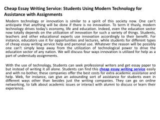 Students using essay writing services
