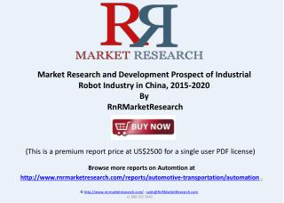 Robot Industry Research Report in China, 2015-2020