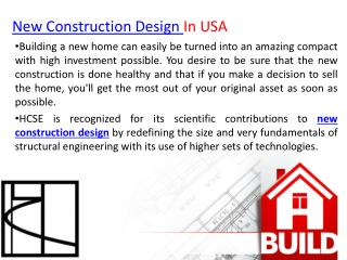 HCSE New construction Design