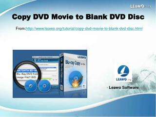 Copy DVD Movie to Blank DVD Disc