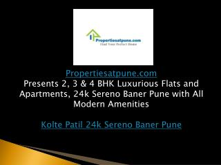 24k Sereno Baner Pune by Kolte Patil Developer & Builder