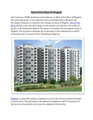 Marvel Fria Phase 2 Wagholi Pune by Marvel Realtors