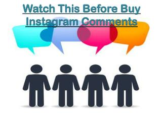Why you should Buy Instagram Comments?