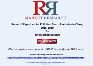 Air Pollution Control Industry in China, 2015-2020