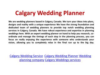 Calgary Wedding Coordination