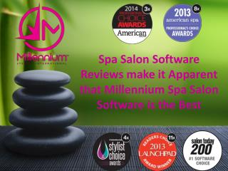 Spa Salon Software Reviews make it Apparent that Millennium
