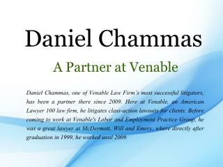 Daniel Chammas A Partner at Venable