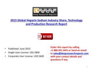 Global Heparin Sodium Market by Region & Gross Margin Analys