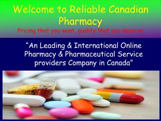 Buy Canadian Cheap & Generic Drugs Online