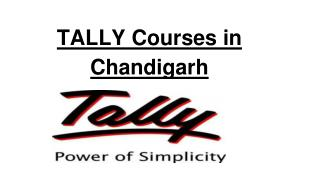 tally courses in chandigarh