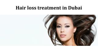 Hair loss treatment in Dubai