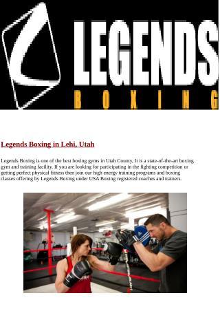 Utah Boxing Gym