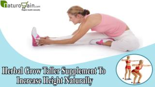 Herbal Grow Taller Supplement To Increase Height Naturally