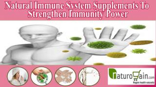 Natural Immune System Supplements To Strengthen Immunity Pow