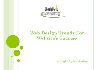 Web Design Trends For Website's Success