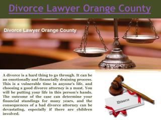 Orange County Divorce Lawyers