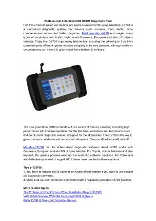 Professional Autel MaxiDAS DS708 Diagnostic Tool