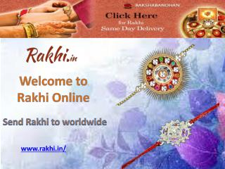 Send rakhi to worldwide - Rakhi Online