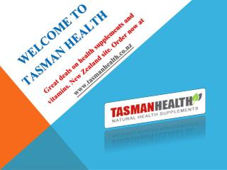 Tasman Health Supplements -TasmanHealth.co.nz