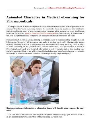 AnimatedCharacterinMedicaleLearningforPharmaceuticals