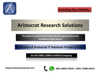 Aristocrat Research Solutions